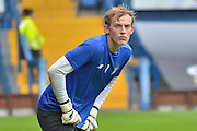 Christian Walton focussed during the Sky Bet League 1 match between Bury and Fleetwood Town at Gigg Lane, Bury, England on 18 August 2015. Photo by Mark Pollitt.