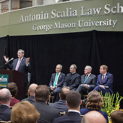 Virginia Chief Justice, Donald Lemons spoke during the Antonin Scalia Law School Dedication, at the Antonin Scalia School of Law, Arlington, VA, Thursday, October 6,, 2016.
