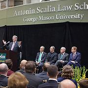 Virginia Chief Justice, Donald Lemons spoke during the Antonin Scalia Law School Dedication, at the Antonin Scalia School of Law, Arlington, VA, Thursday, October 6,, 2016.