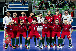 Players of National team of Portugal during futsal match between National teams of Ukraine and Portugal at Day 6 of UEFA Futsal EURO 2018, on February 4, 2018 in Arena Stozice, Ljubljana, Slovenia. Photo by Urban Urbanc / Sportida