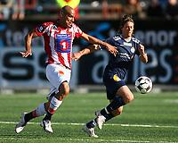 Fotball<br /> Tippeligaen 2008<br /> Tromsø v Strømsgodset<br /> 06.07.2008<br /> Foto: Tom Benjaminsen, Digitalsport<br /> <br /> Douglas Sequeira, Tromsø<br /> Stian Ohr, Strømsgodset