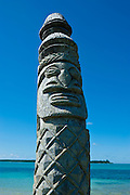 Traditional wood carving at the Ile des Pins, New Caledonia, Melanesia, South Pacific