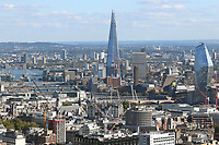 Tower Bridge, The Shard, Tate Modern, St George: One Blackfriars, London City views from BT Tower, London, UK, 24 September 2018, Photo by Richard Goldschmidt