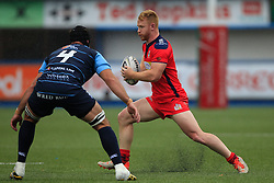 Will Hurrell of Bristol Rugby (R) in action with George Earle of Cardiff Blues - Mandatory by-line: Ian Smith/JMP - 20/08/2016 - RUGBY - BT Sport Cardiff Arms Park - Cardiff, Wales - Cardiff Blues v Bristol Rugby - Pre-season friendly