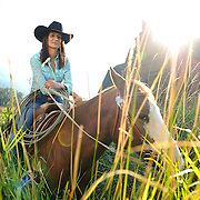 Barrel racer, Kam Sihota, and her horse, Fly, in Yarrow, B.C.