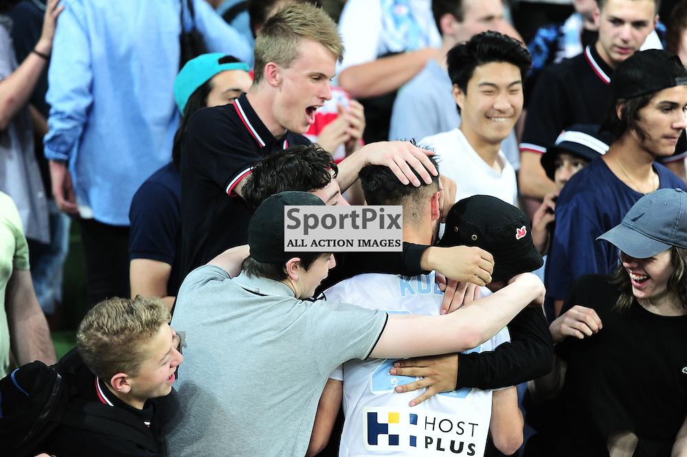 Jacob Melling of Melbourne City with fans at the end of the Hyundai A-League,  25th October 2015, RD 3, Melbourne City FC v Central Coast Mariners with a win to City 3:1 © Mark Avellino | SportPix.org.uk