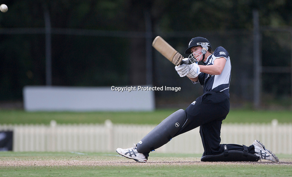 Sydney-March 14: Nicola Browne batting during the match between England and New Zealand in the Super 6 stage of the ICC Women's World Cup Cricket tournament at Bankstown Oval, Sydney, Australia on March 14 2009, England won the match by 31 runs. Photo by Tim Clayton.