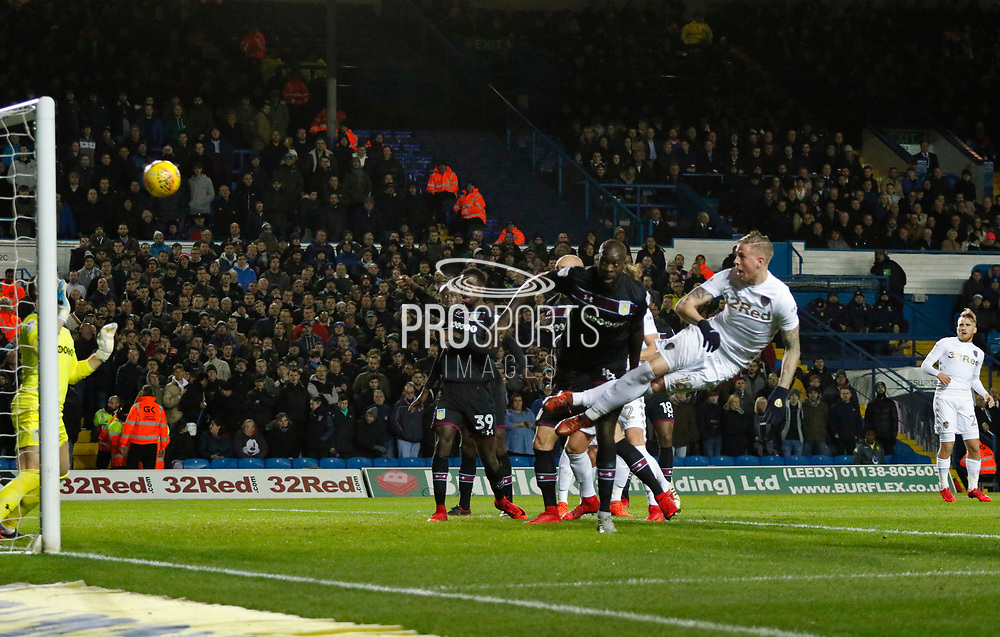 Goal scored by Pontus Jansson of Leeds United  during the EFL Sky Bet Championship match between Leeds United and Aston Villa at Elland Road, Leeds, England on 1 December 2017. Photo by Paul Thompson.