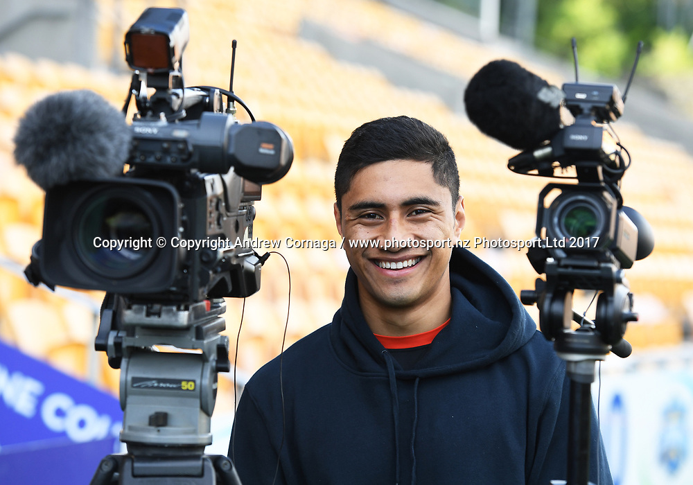 Ata Hingano.<br /> Vodafone Warriors media session. Mt Smart Stadium Auckland, New Zealand. NRL Rugby League. Wednesday 16 August 2017 &copy; Copyright photo: Andrew Cornaga / www.photosport.nz