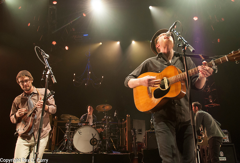 Stelth Ulvang, left, and Wesley Schultz of The Lumineers perform at Verizon Theater in Grand Prairie on Thursday, April, 25, 2013....(Rex C. Curry/Special Contributor)
