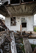 April 11, 2013, Blighted home in New Orleans almost eight years after Hurricane Katrina in the Lower 9th Ward.