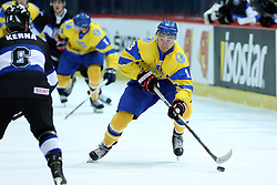 20.04.2016, Dom Sportova, Zagreb, CRO, IIHF WM, Ukraine vs Estland, Division I, Gruppe B, im Bild Yevgen Tymchenko // during the 2016 IIHF Ice Hockey World Championship, Division I, Group B, match between Ukraine and Estonia at the Dom Sportova in Zagreb, Croatia on 2016/04/20. EXPA Pictures © 2016, PhotoCredit: EXPA/ Pixsell/ Goran Stanzl<br /> <br /> *****ATTENTION - for AUT, SLO, SUI, SWE, ITA, FRA only*****