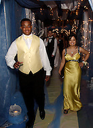 Daquan Shrivers (left) and Ariel Anand pass through 'the cloud' during the Springboro High School prom at Springboro High School, Saturday, April 30, 2011.