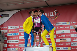 Coryn Rivera (USA) of Team Sunweb retains the UCI Women's World Tour overal leader's purple jersey after the Amstel Gold Race Ladies Edition - a 121.6 km road race, between  Maastricht and Valkenburg on April 16, 2017, in Limburg, Netherlands.