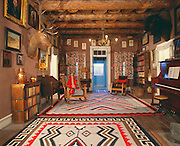 0108-1002D ~ Copyright: George H. H. Huey ~ Parlor of Hubbell family home at trading post site. Built 1878 on Navajo Indian Reservation, near town of Ganado. Hubbell Trading Post National Historic Site, Arizona.