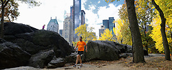 02-11-2013 ALGEMEEN: BVDGF NY MARATHON: NEW YORK <br /> Parcours verkenning en laatste training in het Central Park / Rob <br /> ©2013-FotoHoogendoorn.nl