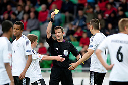 Referee during the UEFA European Under-17 Championship Final match between Germany and Netherlands on May 16, 2012 in SRC Stozice, Ljubljana, Slovenia. (Photo by Urban Urbanc / Sportida.com)