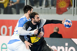 Sarmiento Daniel of Spain during handball match between National teams of Slovenia and Spain on Day 6 in Main Round of Men's EHF EURO 2018, on January 23, 2018 in Arena Varazdin, Varazdin, Croatia. Photo by Mario Horvat / Sportida