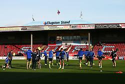 Bristol Rovers players warm up - Mandatory by-line: Matt McNulty/JMP - 11/11/2017 - FOOTBALL - Glanford Park - Scunthorpe, England - Scunthorpe United v Bristol Rovers - Sky Bet League One