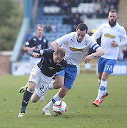 Martin Boyle goes past Marc Fitzpatrick - Dundee v Greenock Morton, SPFL Championship at <br /> Dens Park<br /> <br />  - &copy; David Young - www.davidyoungphoto.co.uk - email: davidyoungphoto@gmail.com