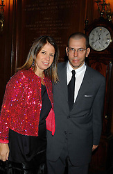 MR & MRS JONATHAN NEWHOUSE at a party to celebrate the publication of 'Princesses' the six daughters of George 111 by Flora Fraser held at the Saville Club, Brook Street, London W1 on 14th September 2004.<br />