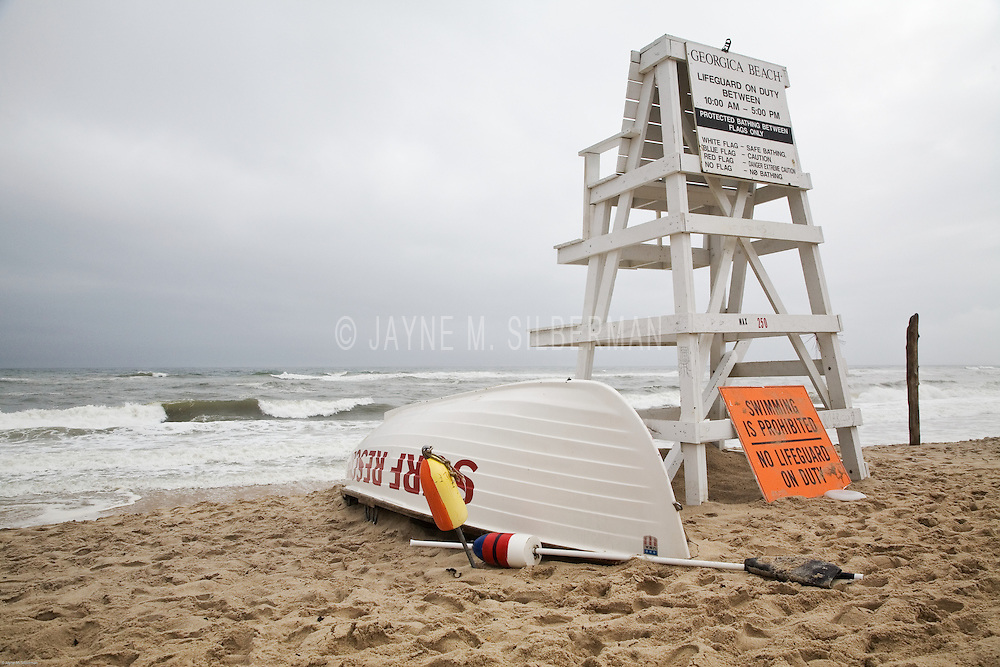Georgica beach in East Hampton is ready if there is an emergency.