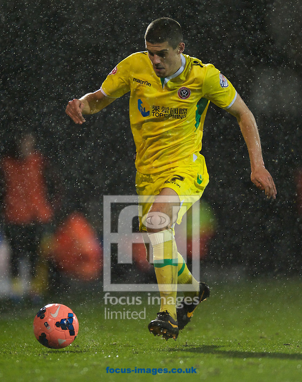 Picture by Alan Stanford/Focus Images Ltd +44 7915 056117<br /> 04/02/2014<br /> Conor Coady of Sheffield United during the The FA Cup match at Craven Cottage, London