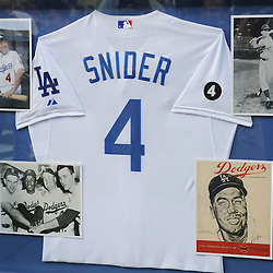 The Dodgers honored the life of former Brooklyn and Los Angeles Dodgers Duke Snider prior to a baseball game against the Philadelphia Phillies in Los Angeles on Tuesday, August 9, 2011. (SGVN/Staff Photo by Keith Birmingham/SPORTS)