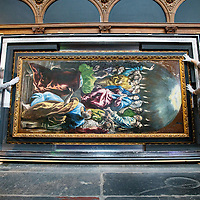 Nederland, Amsterdam, 16 februari 2017.<br /> El Greco als zesde Meesterwerk in De Nieuwe Kerk Amsterdam.<br />Uitpakken en persviewing El Greco's Pentecostés<br /> Een van de meest oorspronkelijke en spirituele werken van El Greco is dit jaar Meesterwerk in De Nieuwe Kerk Amsterdam<br /><br /><br /><br />Foto: Jean-Pierre Jans