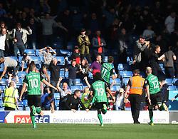 Josh Morris of Scunthorpe United (C) celebrates after scoring his sides first goal - Mandatory by-line: Jack Phillips/JMP - 02/09/2017 - FOOTBALL - Gigg Lane - Bury, England - Bury v Scunthorpe United - English Football League One