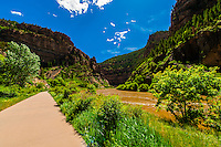 The Colorado River in Glenwood Canyon, near Glenwood Springs, Colorado USA.
