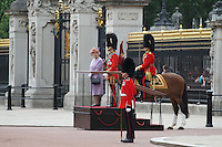 Queen Elizabeth; Prince Philip Queen's Birthday Parade Trooping The Colour, London, UK, 12 June 2010. For piQtured Sales contact: Ian@piqtured.com Tel: +44(0)791 626 2580 (Picture by Richard Goldschmidt/Piqtured)
