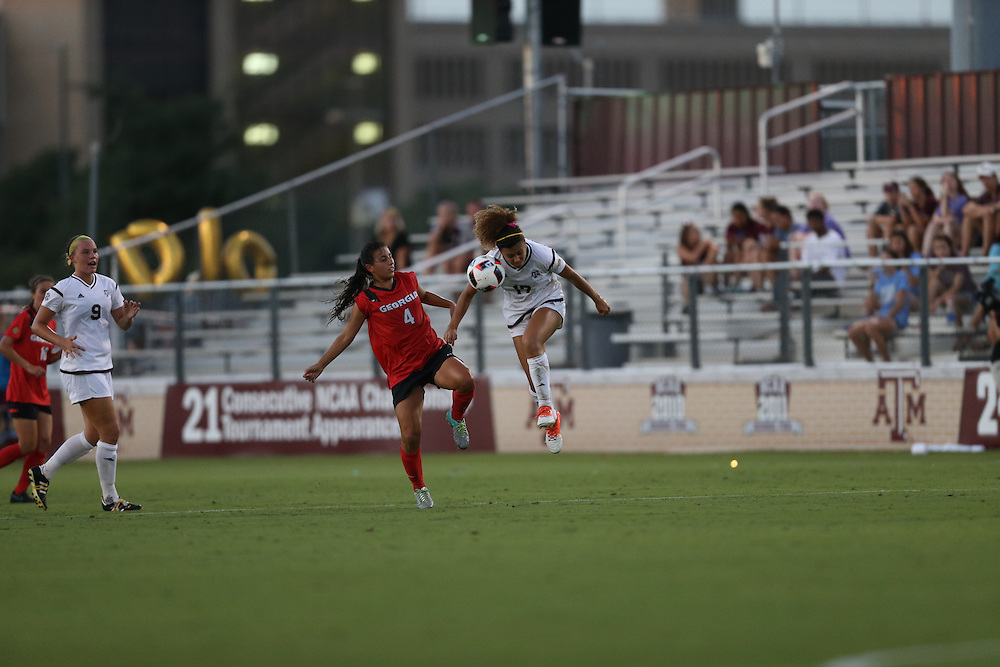 Georgia Texas A&M NCAA college soccer game Saturday, Sept. 16, 2016, in College Station, Texas.