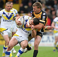 Castleford - Saturday 6th June 2009: Richie Mathers of Warrington is tackled by Michael Shenton of Castleford during the Engage Super League match at Castleford. (Pic by Steven Price/Focus Images)