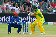 Aaron Finch of Australia batting during the ICC Cricket World Cup 2019 match between Afghanistan and Australia at the Bristol County Ground, Bristol, United Kingdom on 1 June 2019.