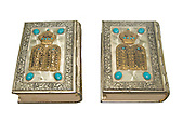 Jewish Sidur (prayer book) for the high holidays of Rosh Hashana and Yom Kippour On white Background