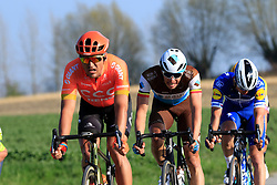 The main bunch of favourites including Greg Van Avermaet (BEL) CCC Team, Oliver Naesen (BEL) AG2R La Mondiale and Zdenek Stybar (CZE) Deceuninck-Quick Step descend off Paterberg during the 2019 E3 Harelbeke Binck Bank Classic 2019 running 203.9km from Harelbeke to Harelbeke, Belgium. 29th March 2019.<br /> Picture: Eoin Clarke | Cyclefile<br /> <br /> All photos usage must carry mandatory copyright credit (© Cyclefile | Eoin Clarke)