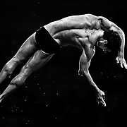 Brazil's Hugo Parisi competes in the men's 10m platform preliminary at the Beijing 2008 Olympic Games, Beijing, China, 22 August, 2008.