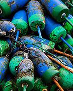 Lobster buoys, Maine, USA