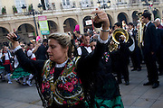 Logron?o (Spain) 21/09/2007 - 51° Fiesta de la Vendimia Riojana 2007 - Corteo para la Misa Solemne de San Mateo con Vendimiadores San Mateo 2007