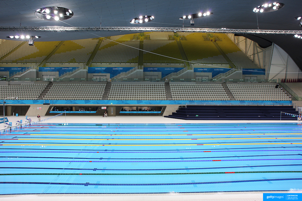 The Aquatics Centre at Olympic Park, Stratford during the London 2012 Olympic games. London, UK.18th July 2012. Photo Tim Clayton
