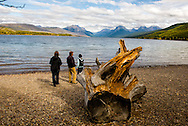 Apgar, Lake McDonald, Glacier National Park, Montana, Tourists