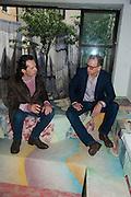 MATVEY LEVENSTEIN; JOHN CURRIN; , Bloomberg Venice Conversations, Siddhartha Mukherjee, Rirkrit Tiravanija and Tomas Vu Daniel cook lunch for Sarah Sze. Palazzo Peckham. Venice. Venice Bienalle. 31 May 2013