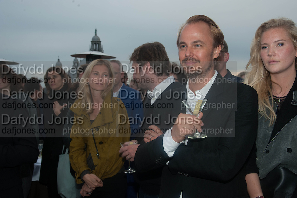 JONAS TAHLIN; JANINA BOSS, Absolut Art Bureau cocktails and dinner to celebrate the announcement of the 2013 Absolut Art Award shortlist. Bauer Hotel, San Marco. Venice. Venice Bienalle. 28 May 2013