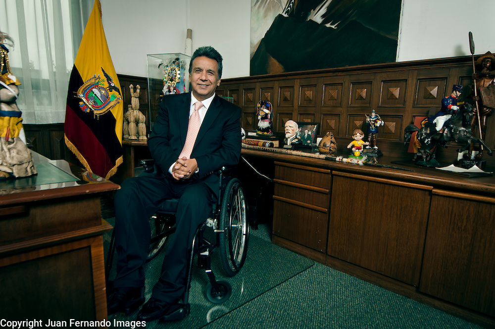 Lenin Moreno, Vice President of Ecuador, Candidate for the 2012 Nobel Peace Prize, shot in his office in Quito