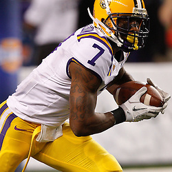 Jan 7, 2011; Arlington, TX, USA; LSU Tigers cornerback Patrick Peterson (7) against the Texas A&M Aggies during the second quarter of the 2011 Cotton Bowl at Cowboys Stadium.  Mandatory Credit: Derick E. Hingle