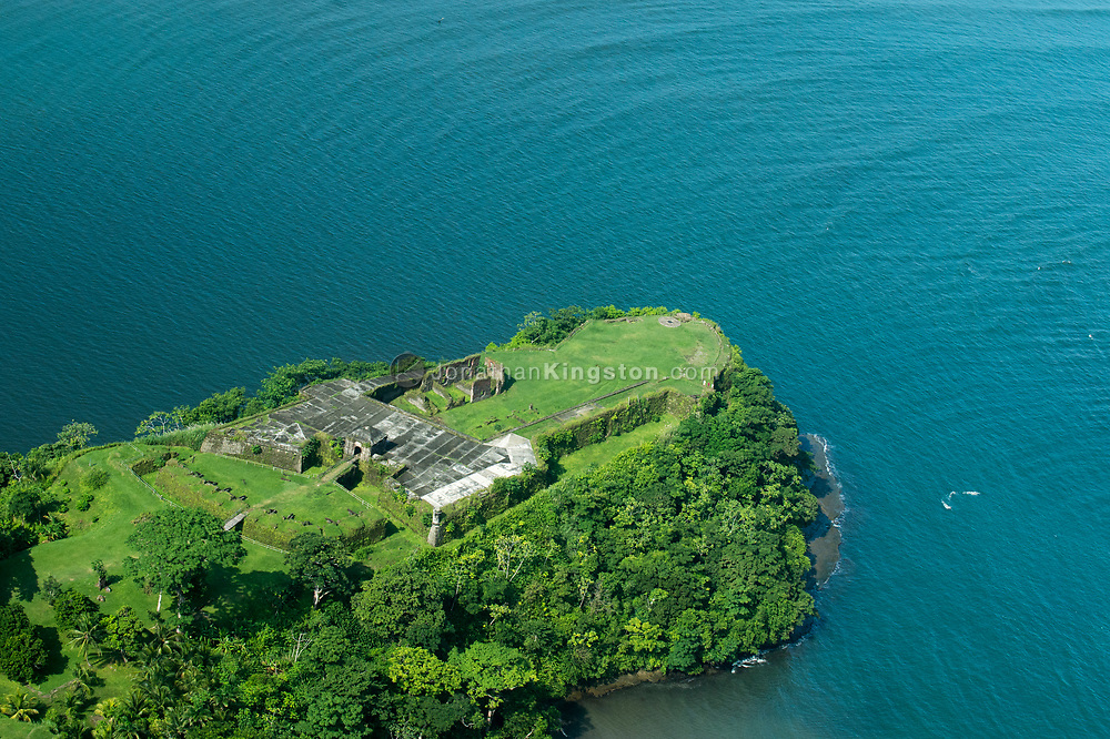Aerial View Of Fort San Lorenzo Colon Panama In 1671