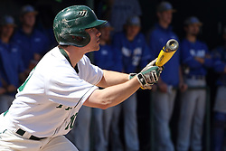 11 April 2015:  Josh Kuntz during an NCAA division 3 College Conference of Illinois and Wisconsin (CCIW) Pay in Baseball game during the Conference Championship series between the Millikin Big Blue and the Illinois Wesleyan Titans at Jack Horenberger Stadium, Bloomington IL