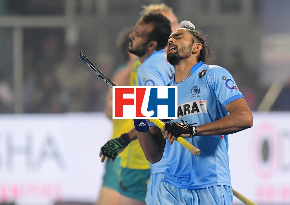 Odisha Men's Hockey World League Final Bhubaneswar 2017<br /> Match id:02<br /> Australia v India<br /> Foto: SINGH Akashdeep<br /> WORLDSPORTPICS COPYRIGHT FRANK UIJLENBROEK