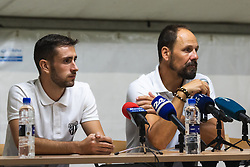 Alen Kozar of Mura and Ante Šimundža, head coach of Mura during press conference after Football match between NS Mura (SLO) and Maccabi Haifa (IZR) in First qualifying round of UEFA Europa League 2019/20, on July 18, 2019, in Stadium Fazanerija, Murska Sobota, Slovenia. Photo by Blaž Weindorfer / Sportida